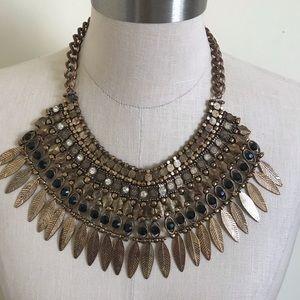 Aldo Cleopatra Tarnished Gold Necklace